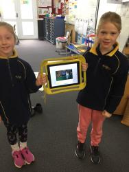 Bianca and Baylee share their book creator 2