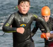 13. Ryan exiting the water after a 300m swim