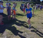 16. Amelia almost at the end of her big race