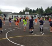 16. year 5s enjoy some netball fun
