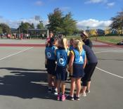 A team talk before the second game